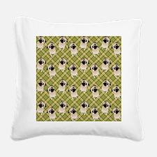 Pug 1 (11) Square Canvas Pillow