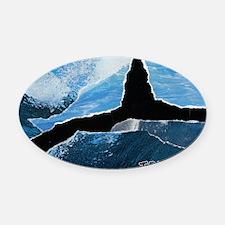 Tofino Killer Whale Oval Car Magnet