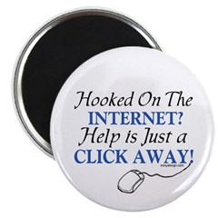"Hooked On The Internet? 2.25"" Magnet (100 pack)"