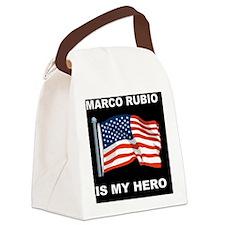 ALLEN WEST FLAGDBUTTON Canvas Lunch Bag