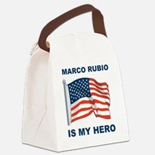 marco rubio is my hero Canvas Lunch Bag
