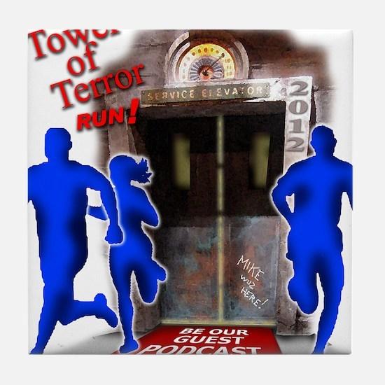 Tower of Terror Weekend Logo Tile Coaster