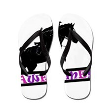 Horses Are Awesome Flip Flops