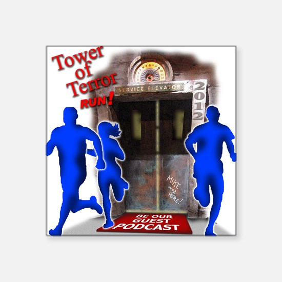 """Tower of Terror Weekend Log Square Sticker 3"""" x 3"""""""
