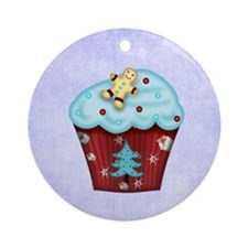 christmascupcake Round Ornament