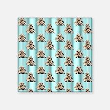 "Pug Stacks (5) Square Sticker 3"" x 3"""