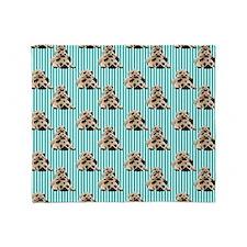 Pug Stacks (5) Throw Blanket