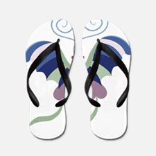 Fanciful Butterfly Flip Flops