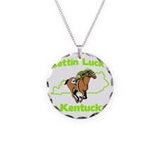 Gettin Lucky in Kentucky Necklace Circle Charm