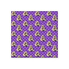 "Pug Stacks (2) Square Sticker 3"" x 3"""