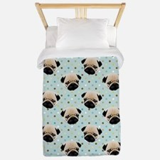 Pugs on Polka Dots Twin Duvet
