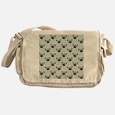 Pugs on Polka Dots Messenger Bag
