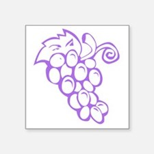 "Grape Traipse Square Sticker 3"" x 3"""
