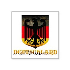 "Deutschland Square Sticker 3"" x 3"""