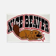 Nice Beaver Rectangle Magnet