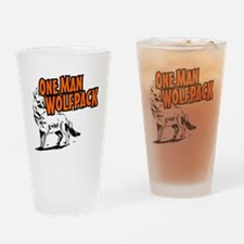 One Man Wolfpack Drinking Glass