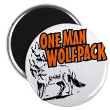 One Man Wolfpack Magnet