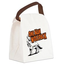 One Man Wolfpack Canvas Lunch Bag