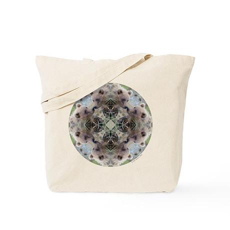 Grizzly Bear Mandala Tote Bag