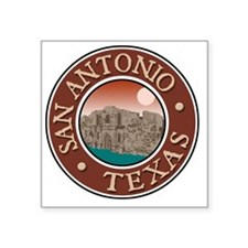 "San Antonio, TX Square Sticker 3"" x 3"""