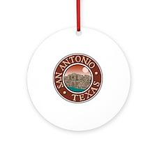 San Antonio, TX Round Ornament