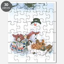 Snowmen Love Snacks. Puzzle