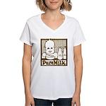 Vintage Pure Milk Women's V-Neck T-Shirt