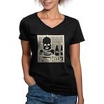 Vintage Pure Milk Women's V-Neck Dark T-Shirt