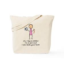 Girls Soccer Tote Bag