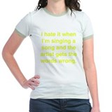 Funny singing Jr. Ringer T-Shirt
