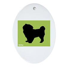Spaniel iPet Oval Ornament