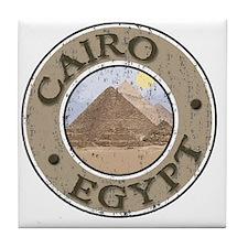 Cairo, Egypt - Distressed Tile Coaster