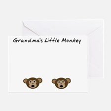 Grandmas Little Monkey Greeting Card