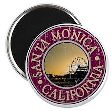 Santa Monica, CA  - Distressed Magnet