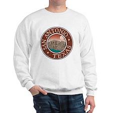 San Antonio, TX - Distressed Sweatshirt