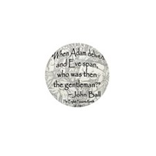English Peasant Protest Button Mini Button