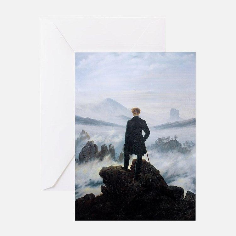 Caspar David Friedrich wanderer abov Greeting Card