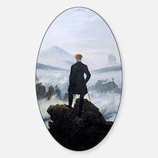 Caspar David Friedrich wanderer abo Sticker (Oval)