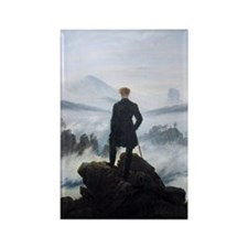 Caspar David Friedrich wanderer a Rectangle Magnet