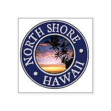 """North Shore, Hawaii Square Sticker 3"""" x 3"""""""