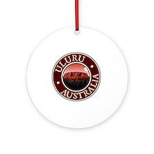 Uluru - Australia Round Ornament