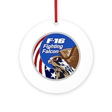 F-16 Falcon Round Ornament