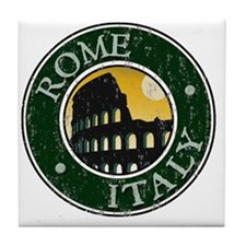 Rome, Italy - Distressed Tile Coaster