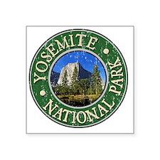 """Yosemite - Distressed Square Sticker 3"""" x 3"""""""