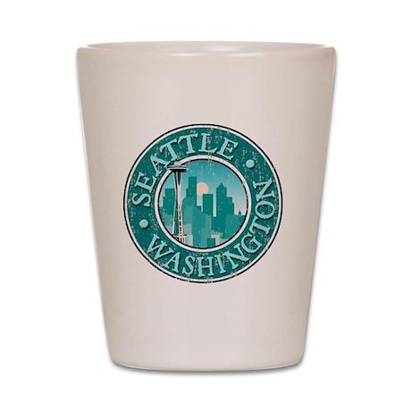 Seattle, WA - Distressed Shot Glass