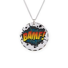 BAMF Necklace Circle Charm