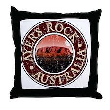 Ayers Rock - Distressed Throw Pillow