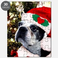 Christmas Boston Terrier Puzzle