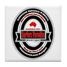 Cute Surfer paradise Tile Coaster