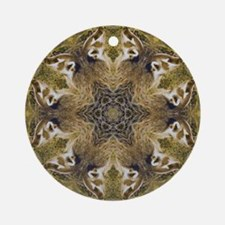 Badger Mandala Ornament (Round)